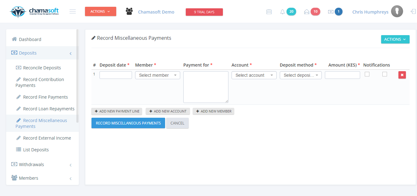 Recording Miscellaneous Payments