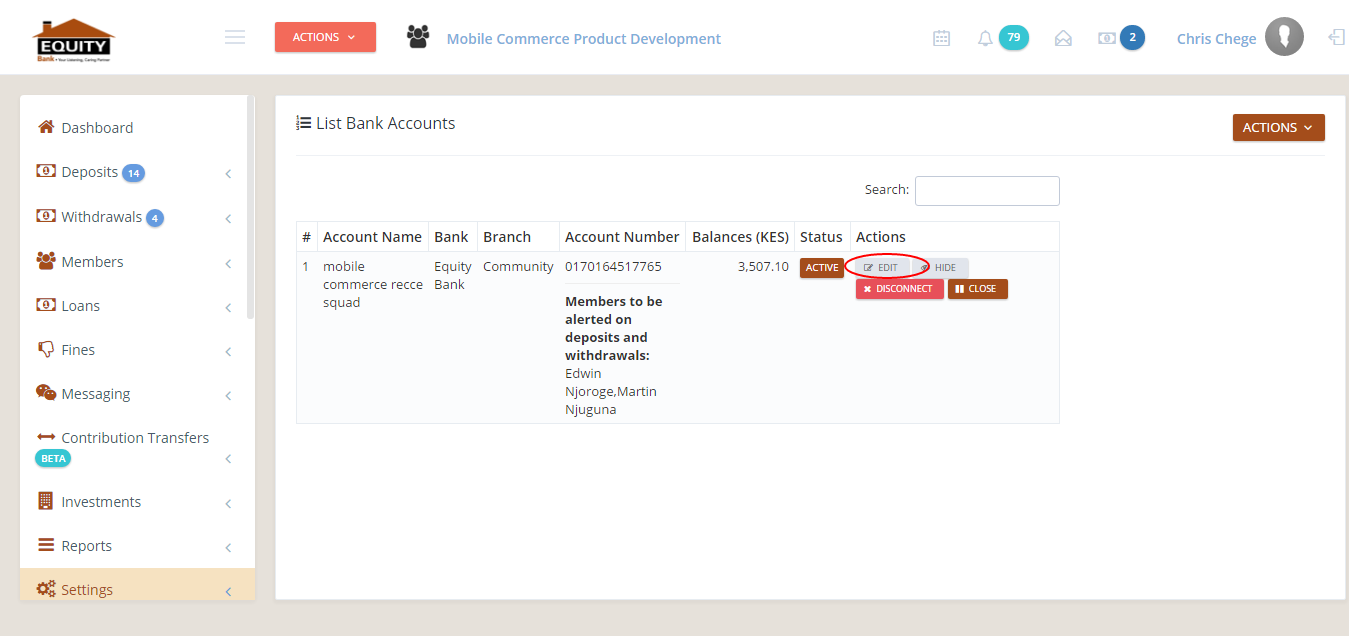 -81 Bank Accounts List