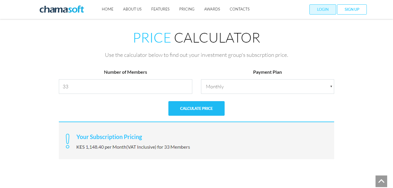 Fig 2: Cost Calculator